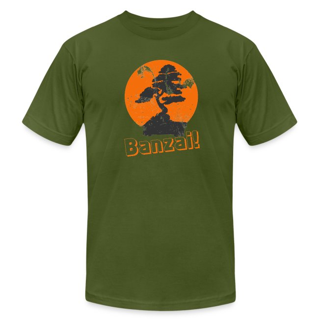 35a7cc78 MadFunnyTshirts.com   Vintage Karate Kid Banzai Tree - Mens Jersey T ...