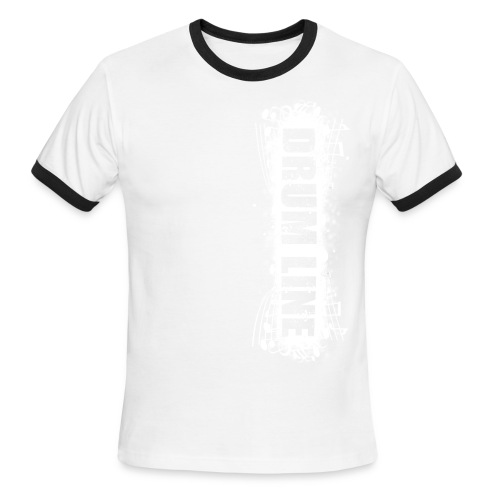 DrumLine Mens Red/White - Men's Ringer T-Shirt