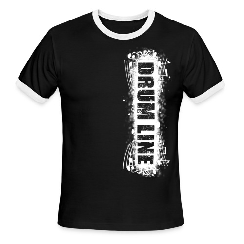 DrumLine Mens Black/White - Men's Ringer T-Shirt