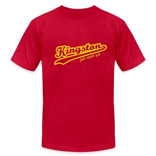kingston - red - Men's Fine Jersey T-Shirt