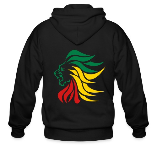 lion hoodie -black - Men's Zip Hoodie