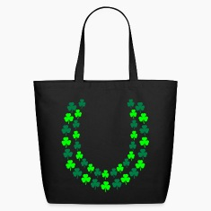 Black Irish Shamrock Lei, Open End Bags