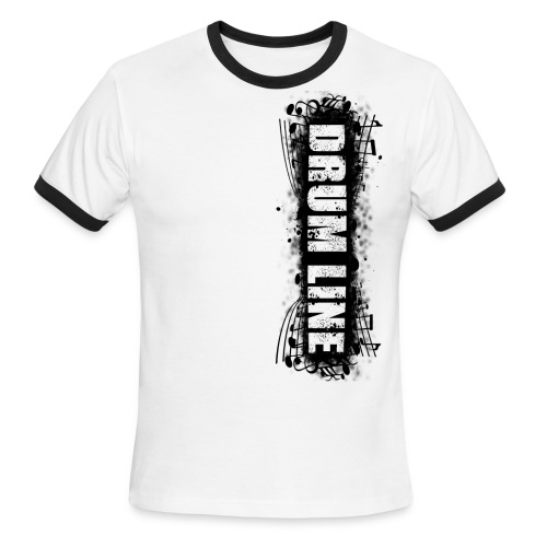 Drum Line Mens Black/White - Men's Ringer T-Shirt