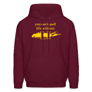 Hoodies ~ Men's Hoodie ~ You can't spell life without LI