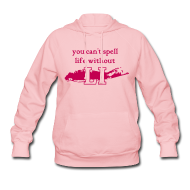 Hoodies ~ Women's Hoodie ~ You can't spell life without LI