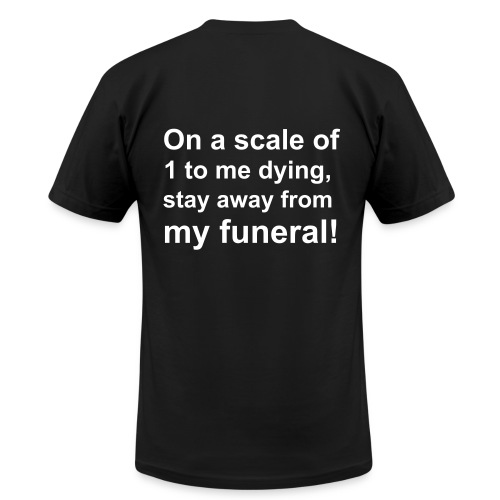 On a scale. - Men's  Jersey T-Shirt