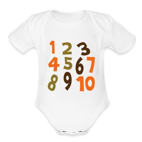 NumberBrown - Organic Short Sleeve Baby Bodysuit