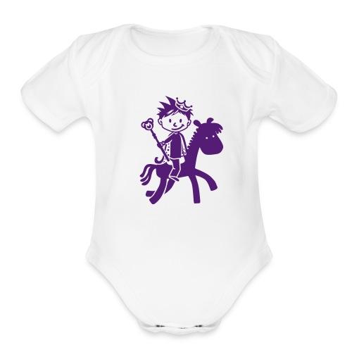 PrincePurple - Organic Short Sleeve Baby Bodysuit