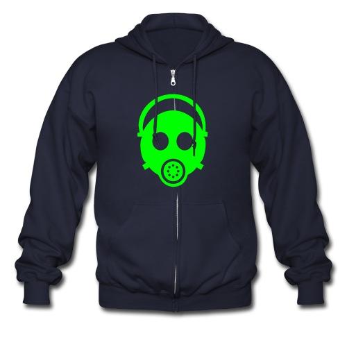 green mask - Men's Zip Hoodie