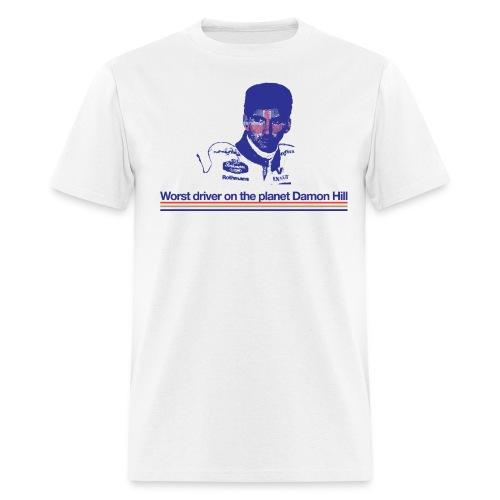 Worst driver on the planet Damon Hill - Men's T-Shirt