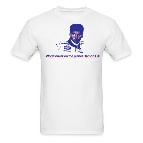 Worst driver on the planet Damon Hill - Men's T-Shirt