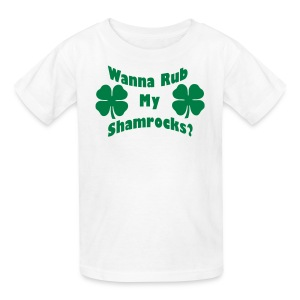 Wanna Rub My Shamrocks - Kids' T-Shirt
