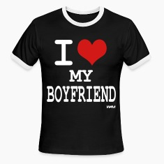 i love my boyfriend by wam T-shirts (manches courtes)