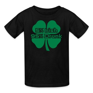 5 Percent Irish 95 Percent Drunk - Kids' T-Shirt