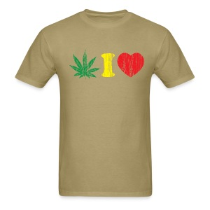 Weed I love - Men's T-Shirt