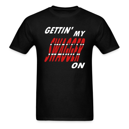 WUBT 'Gettin' My Swagger On' Men's Standard Tee, Black - Men's T-Shirt