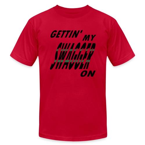 WUBT 'Gettin' My Swagger On' Men's AA Tee, Black - Men's Fine Jersey T-Shirt