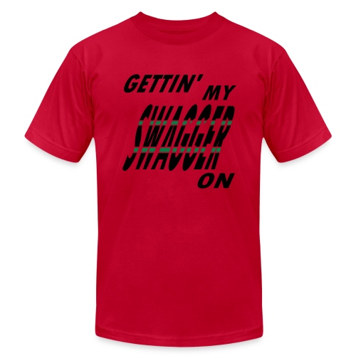 WUBT 'Gettin' My Swagger On' Men's AA Tee, Black - Men's  Jersey T-Shirt