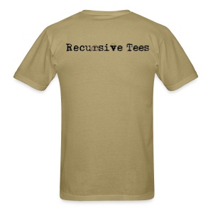Recursive Tees (Back on choice) - Men's T-Shirt