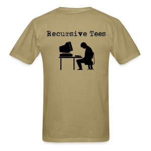 Recursive Tees - Computer (Back) - Men's T-Shirt
