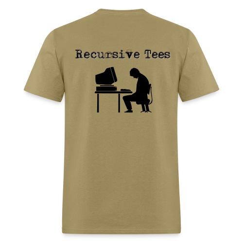 Recursive Tees - Computer (Back) - Men's T-Shirt