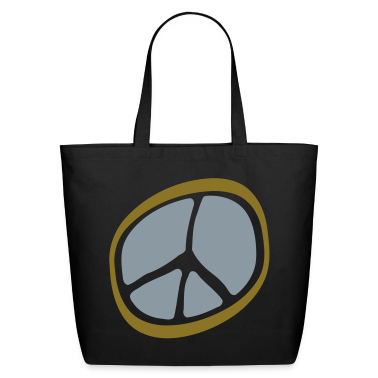 Black Peace Sign Unusual, Wax Seal Stamp Bags