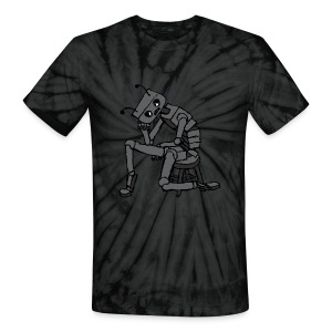 Depressed Robot - Unisex Tie Dye T-Shirt