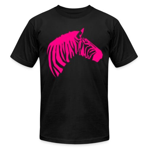 Brah - Black/Neon Pink - Men's Fine Jersey T-Shirt