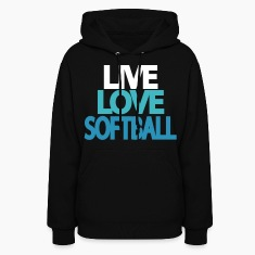 Live Love Softball Hooded Sweatshirt