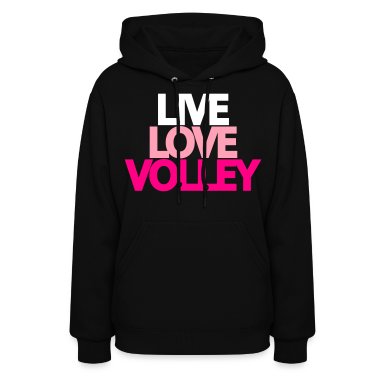 Live Love Volley (ball) Hooded Sweatshirt