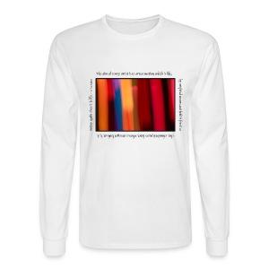 Painted Light Long Sleeve Tee - Faulkner - Men's Long Sleeve T-Shirt