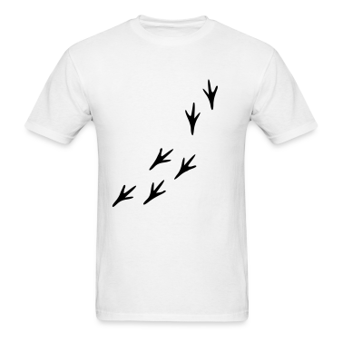 White Footprints - Bird T-Shirts