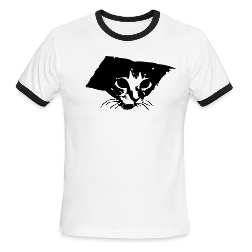 Men's Ringer T-Shirt - Gigantic ceiling cat on your chest.