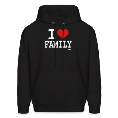 Black i love family by wam Hoodies