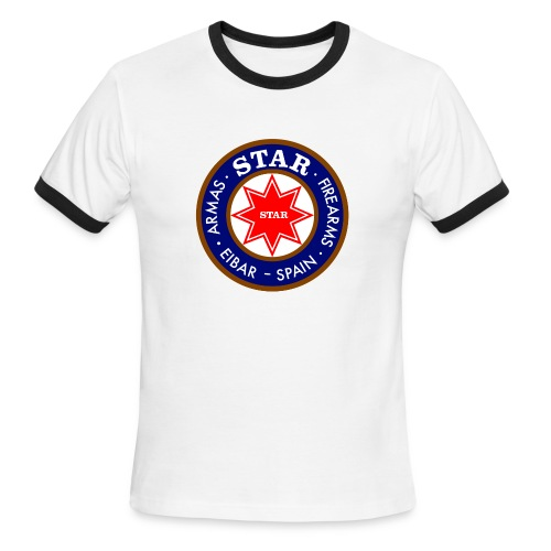 Men's retro-look Tee - Large logo on the front - Men's Ringer T-Shirt