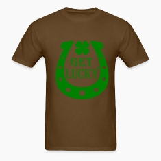 Brown Get Lucky T-Shirts
