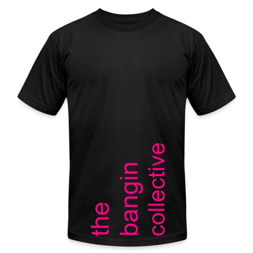 Iconic - Black/Neon Pink - Men's Jersey T-Shirt