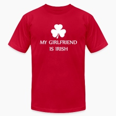 Bright green my girlfriend is irish T-Shirts