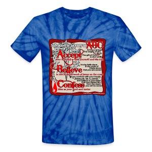 Salvation ABC - Unisex Tie Dye T-Shirt