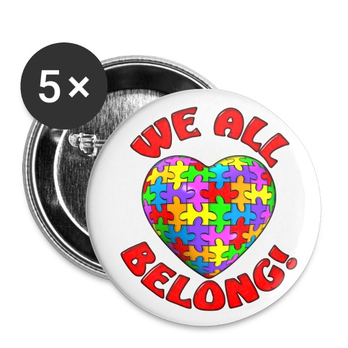 We all belong pin - Small Buttons
