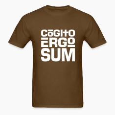 Cogito Ergo Sum Light on Standardweight Shirt