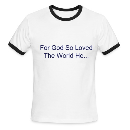 John 3:16  - Men's Ringer T-Shirt