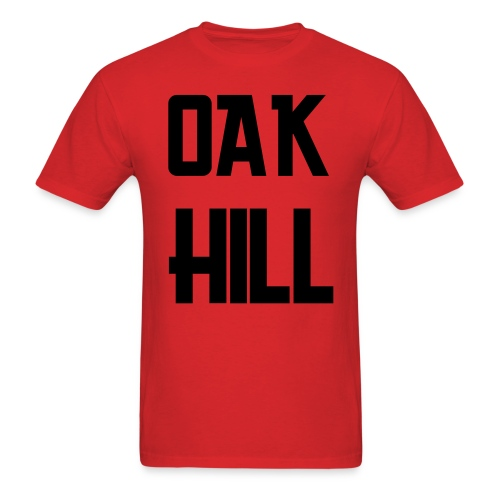 Red/Black OAK HILL Tshirt - Men's T-Shirt