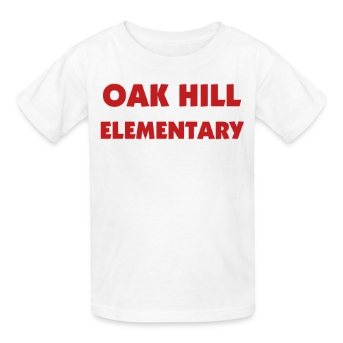 White/Red Kids OAK HILL ELEMENTARY Tee - Kids' T-Shirt