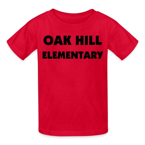 Black/Red Kids OAK HILL ELEMENTARY Tee - Kids' T-Shirt