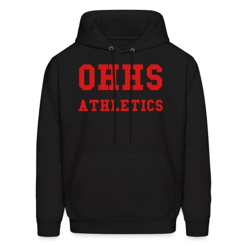 Black/Red OHHS ATHLETICS Mens Hooded Sweatshirt - Men's Hoodie