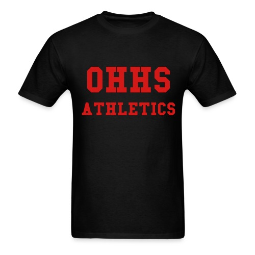 Black/Red OHHS ATHLETICS Mens TEE - Men's T-Shirt