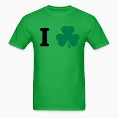 Bright green shamrock T-Shirts