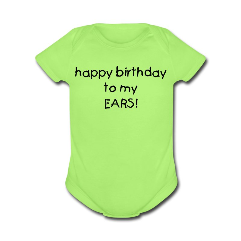 hearing birthday! - Short Sleeve Baby Bodysuit