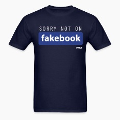 Navy not on fakebook by wam T-Shirts